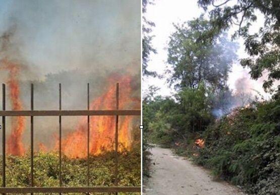 Ancora un rogo tossico, fiamme tra Sant'Antimo e Cesa