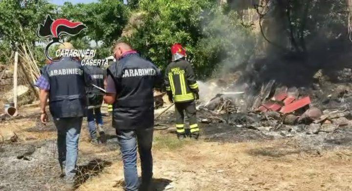 Rogo tossico tra Capua e Caserta, carabinieri arrestano un agricoltore di Parete