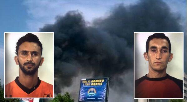 San Marcellino, roghi tossici: due arresti. Stavano bruciando rifiuti speciali