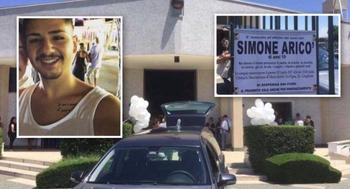 Giugliano, lacrime a Casacelle per l'ultimo saluto a Simone Aricò