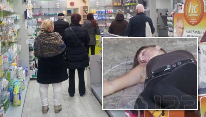 Tragedia nell'agro aversano, è in fila in farmacia quando muore sotto gli occhi di tutti