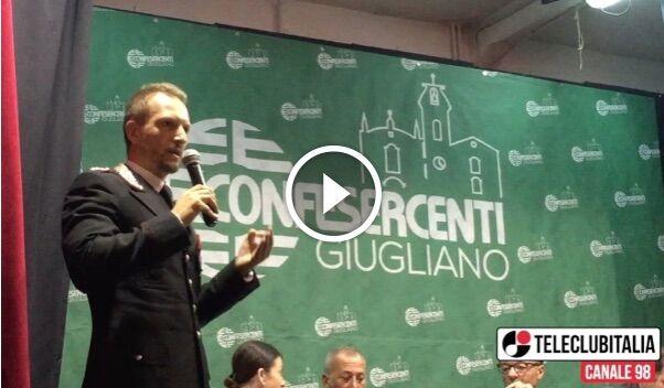 """Estorsioni a Giugliano, il capitano De Lise: """"Così state togliendo il futuro ai vostri figli"""". VIDEO"""