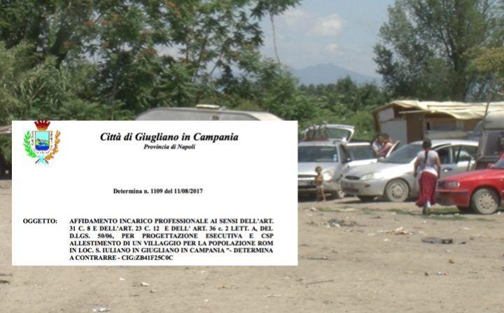 Giugliano, ecovillaggio rom: 30mila euro per la progettazione