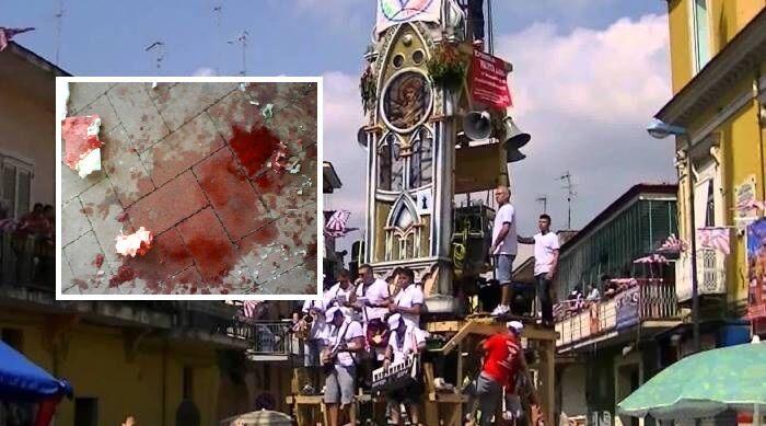 Sangue nella Festa dei Gigli a Brusciano, accoltellati due giovani