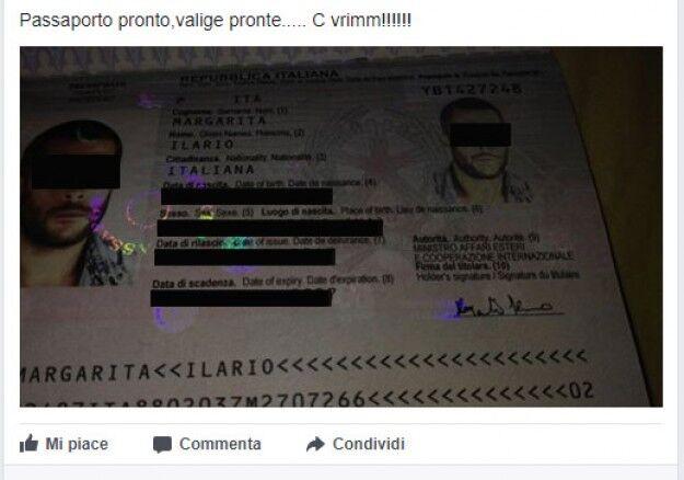 Tradito dal suo post: pubblica il passaporto e subito dopo l'arresto