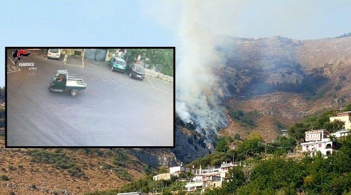 Incendio sul Monte Faito: preso il piromane. Ecco chi è