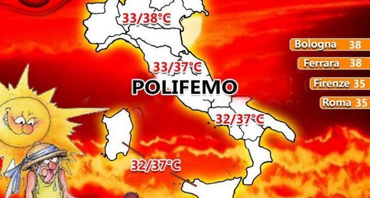 """Meteo in Campania, nuova ondata di caldo africano: dal weekend c'è """"Polifemo"""""""