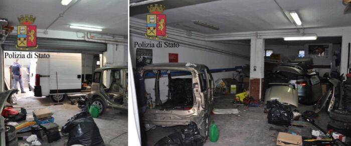 Napoli, box auto per lo smontaggio di auto rubate: 3 denunce