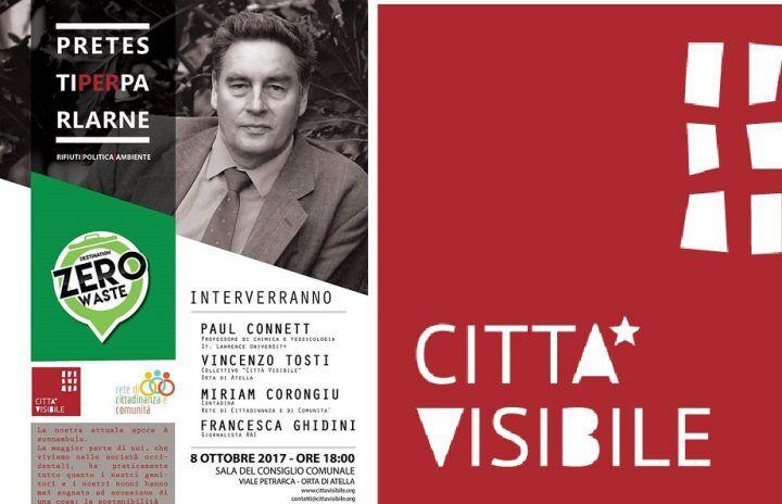 """Orta di Atella, torna """"Pretesti per parlarne"""". L'iniziativa di Città Visibile: apre Paul Connett l'8 ottobre"""