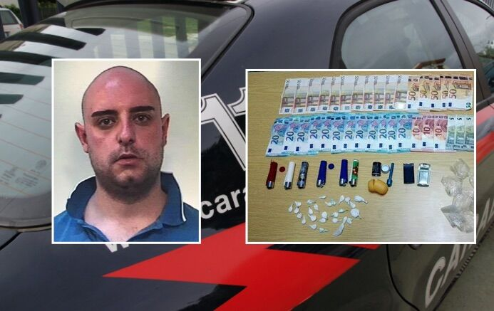 Spacciava cocaina in finti accendini, arrestato pusher 29enne