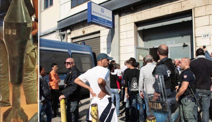 Napoli, extracomunitario entra nell'Ufficio Immigrazione con una bomba: arrestato