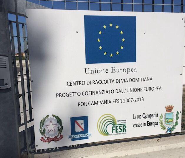 Giugliano, la municipale sequestra parte dell'isola ecologica di via Domitiana
