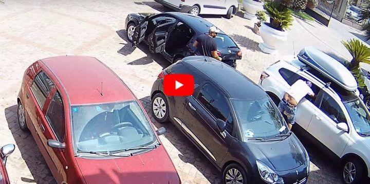 Aversa, banda della 147 in azione nei parcheggi dei bar: bottino da centinaia di euro. VIDEO