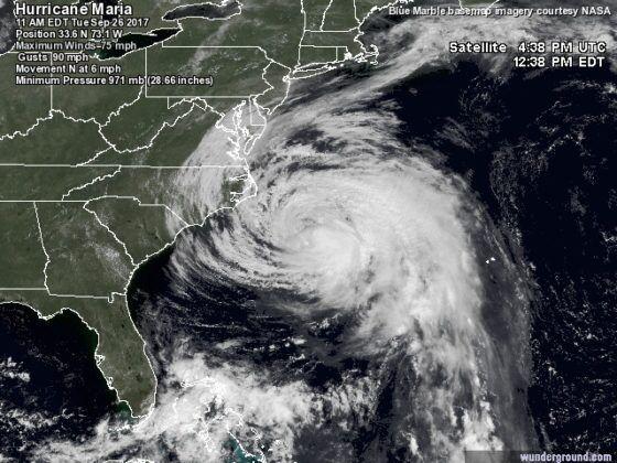 """Meteo, paura in Italia: l'uragano """"Maria"""" in arrivo dopo aver devastato i Caraibi"""