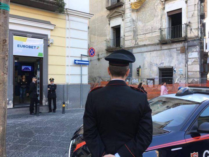 Giugliano, controlli all'Eurobet di piazza San Nicola. FOTO