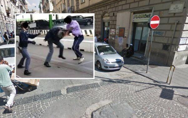 Napoli, poliziotti circondati e picchiati da extracomunitari: bloccato 34enne