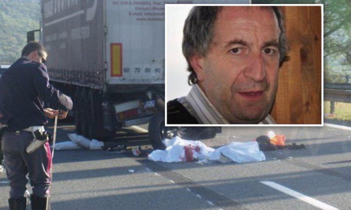 Campania: tragico incidente sull'A1, Clemente muore nello schianto con un camion