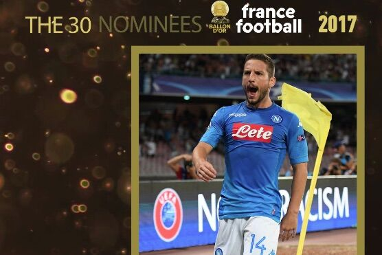 Napoli, Mertens in corsa per il Pallone d'Oro