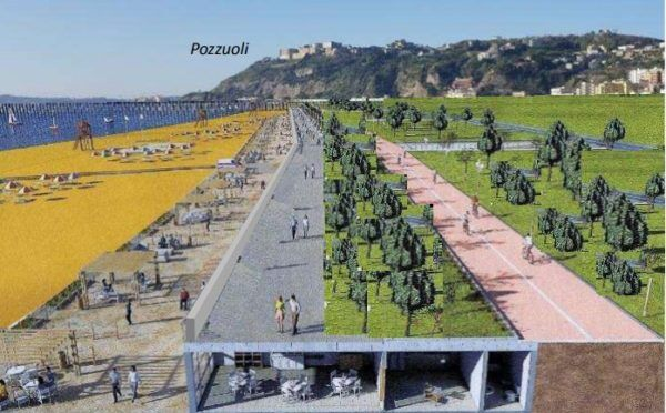 Nuova Bagnoli, come sarà il gioiello di Napoli: spiaggia libera, piste ciclabili e tanto verde