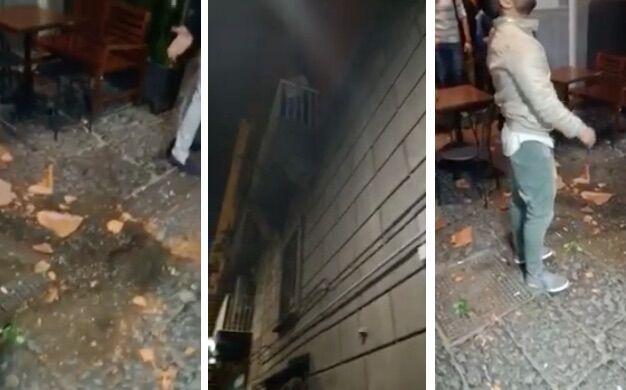 """Napoli. Movida far west, residente lancia vaso sulla folla. I passanti: """"Ti spariamo"""". VIDEO"""