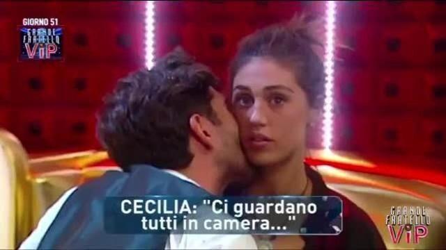 Grande Fratello Vip, Cecilia e Ignazio fanno sesso nell'armadio. Il video gira sul web
