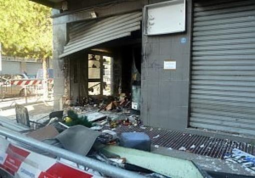 Napoli, scoppia un ordigno davanti ad un bar in via Pessina