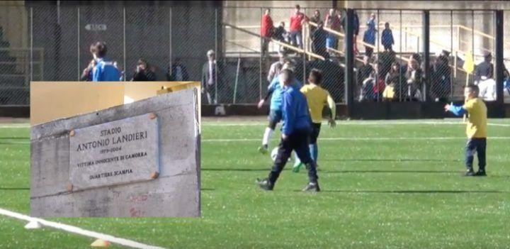Scampia, nasce lo stadio Antonio Landieri. Il campo realizzato con pneumatici recuperati nella Terra dei Fuochi
