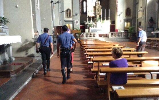 Carabinieri in una nota chiesa del casertano, tutti restano di stucco per il motivo