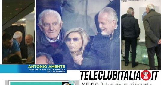 "Amente a Cnan: ""Stadio Napoli a Melito, De Laurentis verrà di notte"""