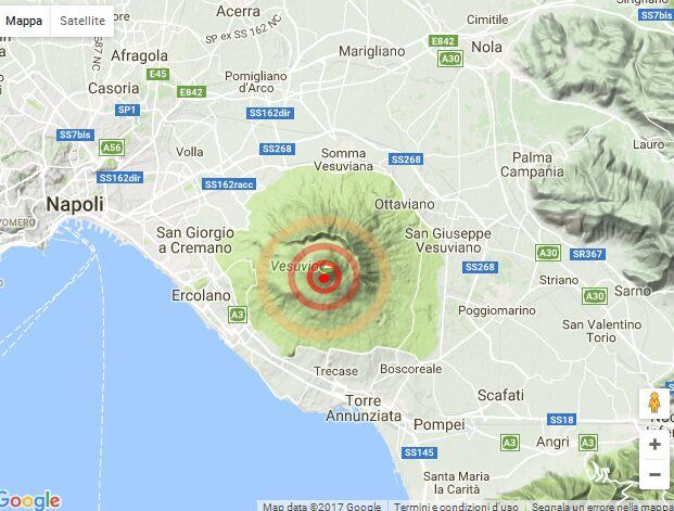 terremoto vesuvio massa di somma 22 gennaio