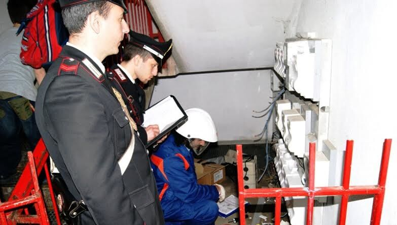 san cipriano d'aversa arresti furto energia elettrica luigi basco parente ida