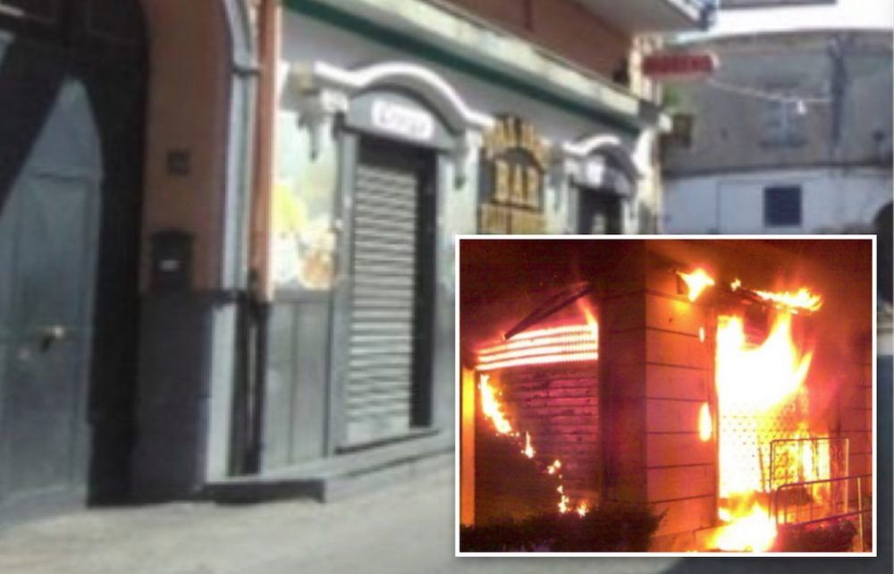 bar energe afragola piazza campa incendio