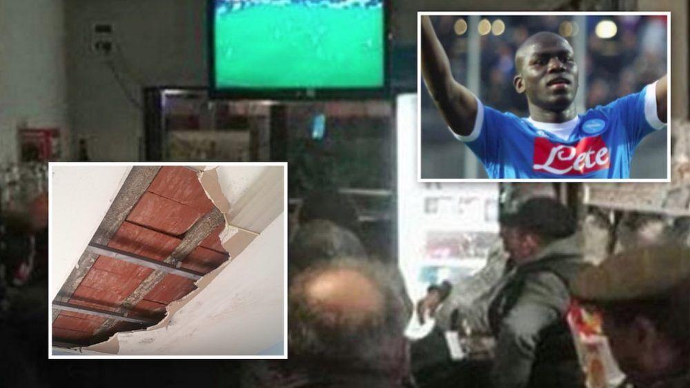 chieri crolla soffitto juventus napoli due feriti centro scommesse via dante