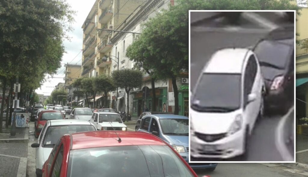 melito via roma sperona auto moglie arrestato