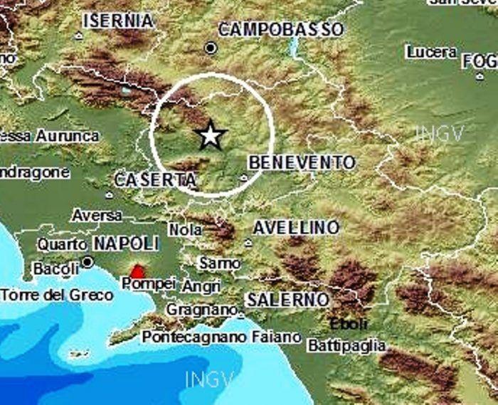 terremoto alvignano 18 aprile ingv