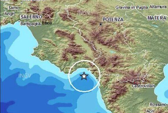 terremoto golfo di policastro 23 aprile