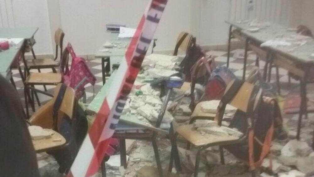 solaio giudice scuola eboli feriti bimbi