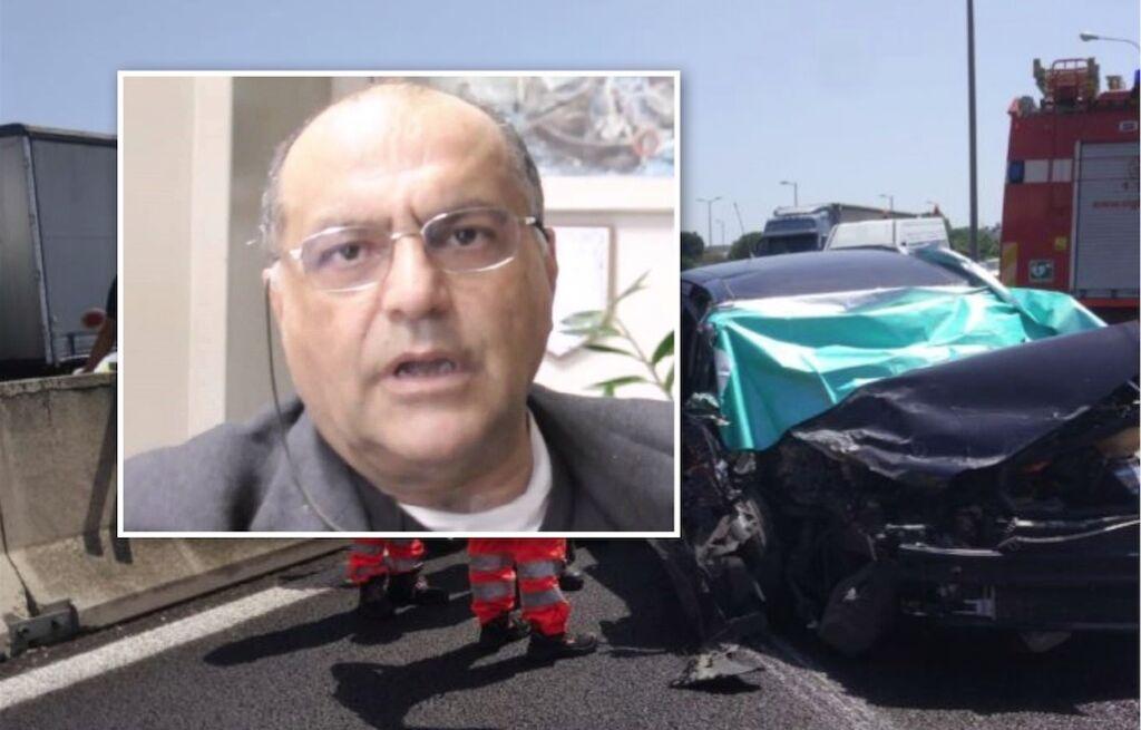 professore marcello tendi morto triggiano incidente tangenziale bari