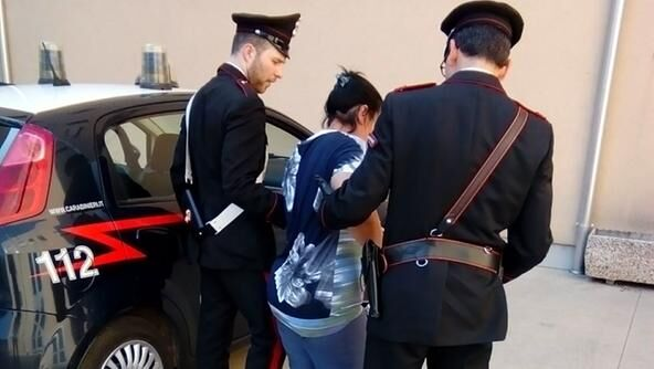 arrestata quarto graffia carabinieri luisa mennone