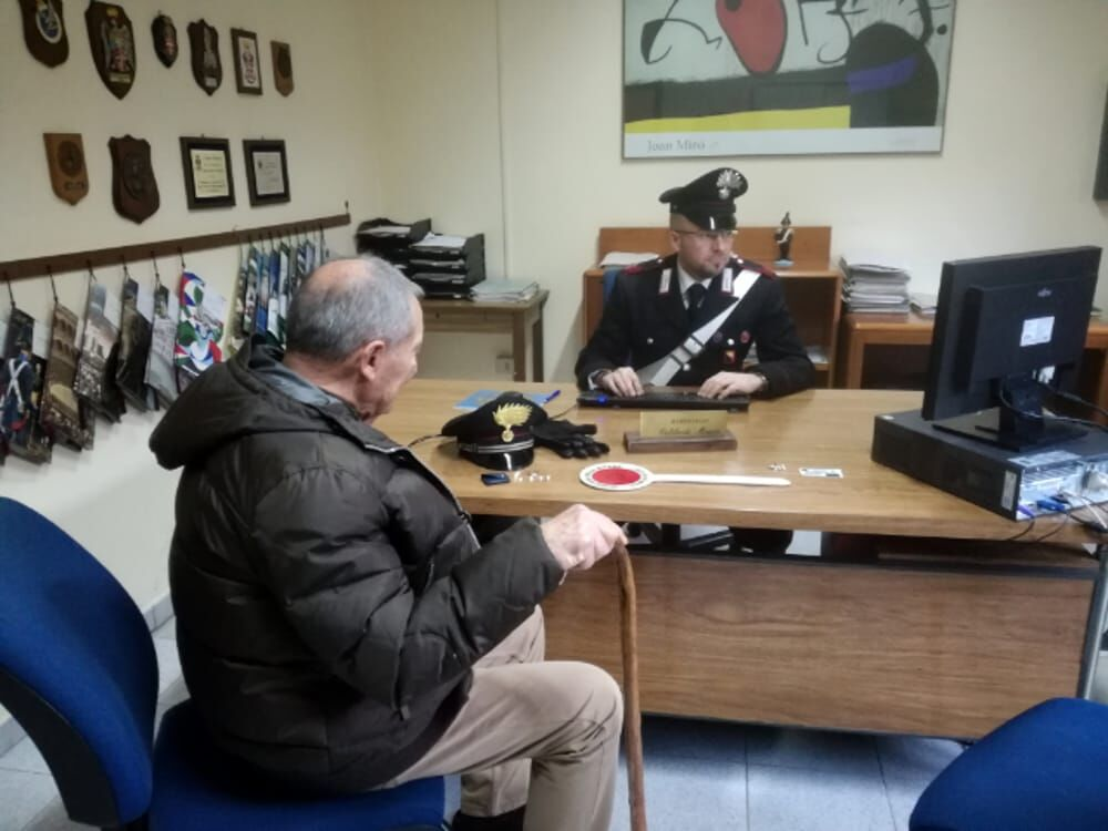 arrestato anziano portici inps