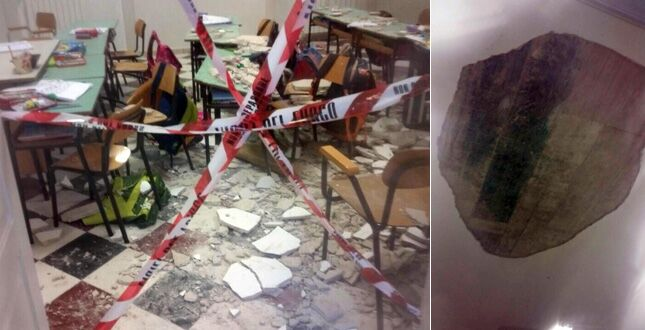 crolla parete scuola sant'Anastasia