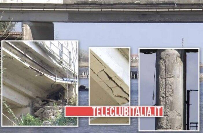 ponte giugliano castel volturno pericolante