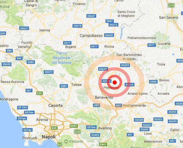 scossa terremoto san marco dei cavoti