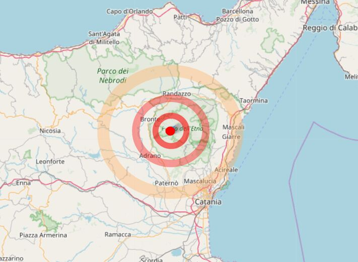 terremoto bronte oggi 12 aprile