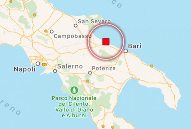 terremoto barletta oggi 21 maggio