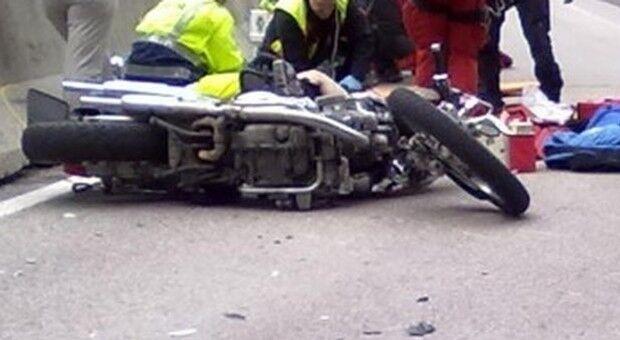 Terni incidente motociclista