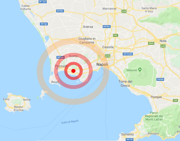 terremoto pozzuoli oggi 24 luglio