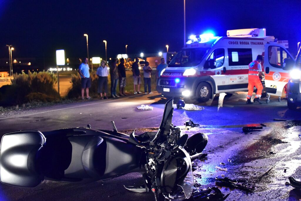 auto scooter incidente
