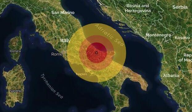 terremoto montefilcione molise ingv