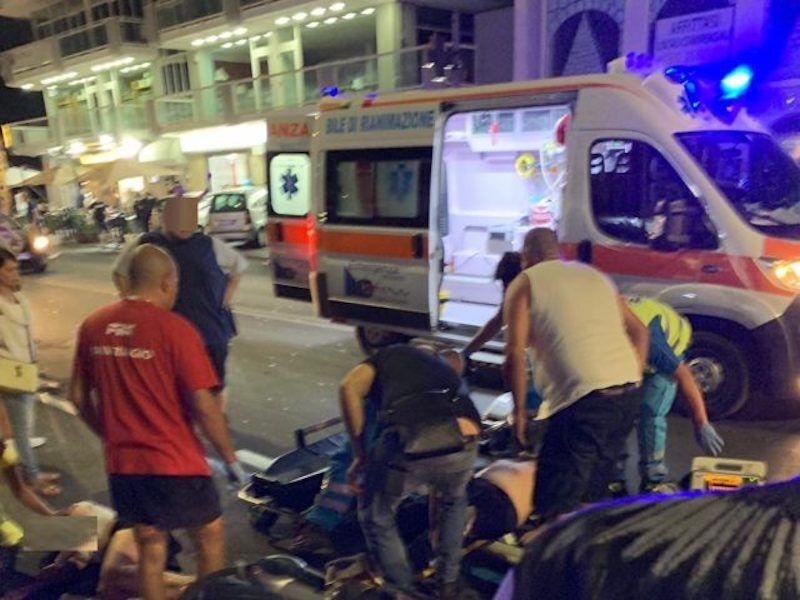 incidente via miano scooter auto ferito